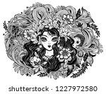 celtic fairy elf pagan princess ... | Shutterstock .eps vector #1227972580