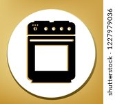 stove sign. vector. black icon... | Shutterstock .eps vector #1227979036
