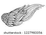 angels wings. ornamental... | Shutterstock .eps vector #1227983356