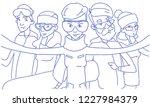 people group taking selfie... | Shutterstock .eps vector #1227984379