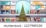 modern shopping mall center... | Shutterstock .eps vector #1227989230