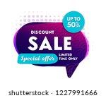 discount sale banner. vector... | Shutterstock .eps vector #1227991666