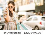 lifestyle shopping concept ... | Shutterstock . vector #1227999103