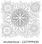 coloring book for adult and... | Shutterstock .eps vector #1227999430