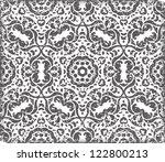 vector black seamless retro... | Shutterstock .eps vector #122800213