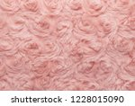pink natural wool with twists... | Shutterstock . vector #1228015090