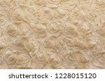 beige natural wool with twists... | Shutterstock . vector #1228015120