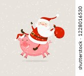 merry christmas and happy new...   Shutterstock .eps vector #1228016530