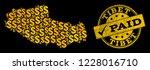 golden collage of dollar mosaic ... | Shutterstock .eps vector #1228016710