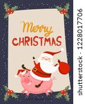 merry christmas and happy new...   Shutterstock .eps vector #1228017706