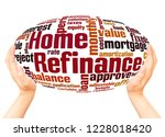 home refinance word cloud and... | Shutterstock . vector #1228018420