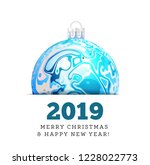christmas vector ball in the... | Shutterstock .eps vector #1228022773