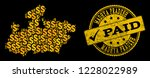 Golden Composition Of Dollar...