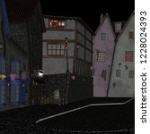 cartoon street in cartoon... | Shutterstock . vector #1228024393