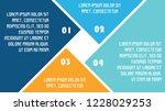 4 part infographic presentation ... | Shutterstock .eps vector #1228029253