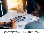 business people analysis... | Shutterstock . vector #1228042930