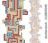 seamless geometric vertical... | Shutterstock .eps vector #122805040