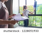 professional cleaning service... | Shutterstock . vector #1228051933
