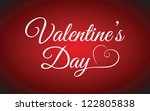 valentine's day type text | Shutterstock .eps vector #122805838