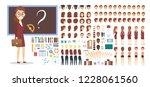 teacher female character in...   Shutterstock .eps vector #1228061560