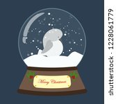 christmas snow globe with... | Shutterstock . vector #1228061779