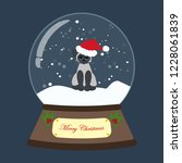 christmas snow globe with cat... | Shutterstock . vector #1228061839