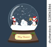 christmas snow globe on the... | Shutterstock . vector #1228061866