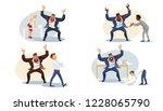 set aggressive boss screaming... | Shutterstock .eps vector #1228065790
