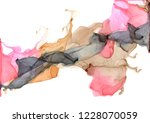 abstract color alcohol ink... | Shutterstock .eps vector #1228070059