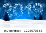 christmas night background with ... | Shutterstock .eps vector #1228070863