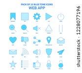 web app blue tone icon pack  ...