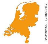 netherlands map vector | Shutterstock .eps vector #1228082419