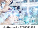 female scientist working with... | Shutterstock . vector #1228086523