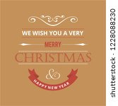 merry christmas creative design ... | Shutterstock .eps vector #1228088230