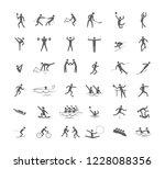 big set of sport games.... | Shutterstock .eps vector #1228088356