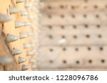 old wooden chair with spikes... | Shutterstock . vector #1228096786