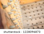 old wooden chair with spikes... | Shutterstock . vector #1228096873