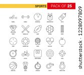 sports black line icon   25... | Shutterstock .eps vector #1228097809