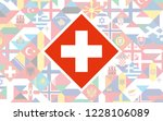 flag background of european... | Shutterstock .eps vector #1228106089