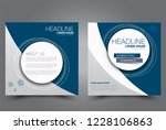 square flyer design. a cover... | Shutterstock .eps vector #1228106863