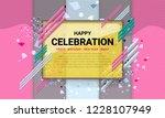 celebration background design... | Shutterstock .eps vector #1228107949