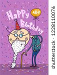 happy birthday card for... | Shutterstock .eps vector #1228110076