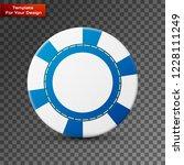 casino chip on transparent... | Shutterstock .eps vector #1228111249