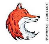 fox emblem. animal logo. | Shutterstock .eps vector #1228111276