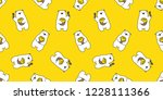 bear seamless pattern vector... | Shutterstock .eps vector #1228111366