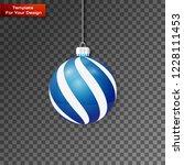 christmas ball on transparent... | Shutterstock .eps vector #1228111453