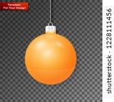christmas ball on transparent... | Shutterstock .eps vector #1228111456