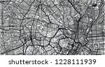 urban vector city map of tokyo  ... | Shutterstock .eps vector #1228111939