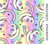 seamless pattern of fantasy...   Shutterstock .eps vector #1228115266