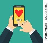 sending love message concept.... | Shutterstock .eps vector #1228116283